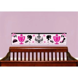 Pink Diva Peel and Stick Baby Growth Chart