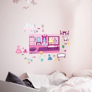 Peel and Stick 'Dollhouse Friends' Wall Decal Set