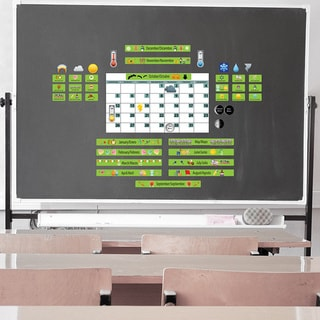 Peel, Play and Learn 'Green Calendar' Wall Decal Set