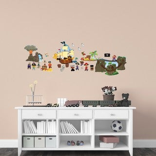 Peel and Play 'Pirate Friends Interactive' Wall Decal Set