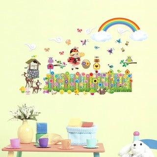 Flower Garden Interactive Wall Decal Set