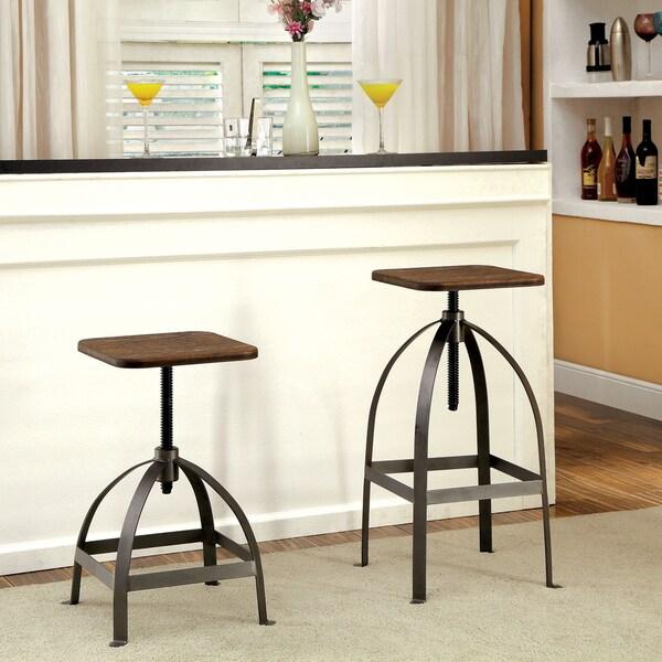 Furniture Of America Gorden Industrial Adjustable Swivel