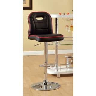 Furniture of America Corvin Sleek Adjustable Swivel Bar Stool|https://ak1.ostkcdn.com/images/products/9911990/P17070280.jpg?impolicy=medium