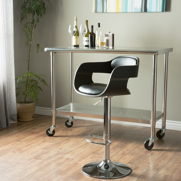 Furniture Of America Kraemer Retro Adjustable Swivel Bar Stool Free Shipping Today Overstock