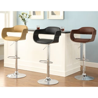 Furniture of America Kraemer Retro Adjustable Swivel Bar Stool