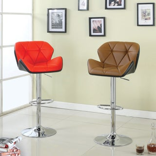 Furniture of America Dimone Modern Adjustable Swivel Bar Stool