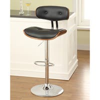 Furniture of America Jonas Scoop Frame Adjustable Swivel Bar Stool