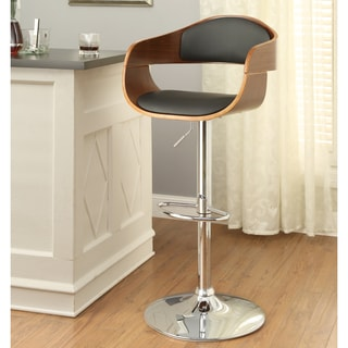 Furniture of America Celn Modern Brown Faux Leather Swivel Bar Stool