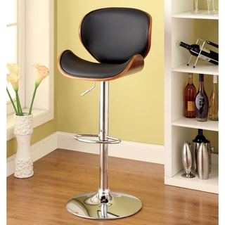 Furniture of America Jonas Curved Frame Adjustable Swivel Bar Stool