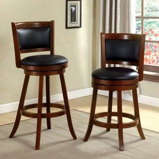 Furniture of America Hollin IV Upholstered Swivel Bar Chair