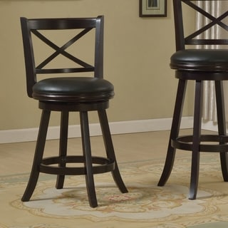 Furniture of America Hollin VI Upholstered Swivel Bar Chair