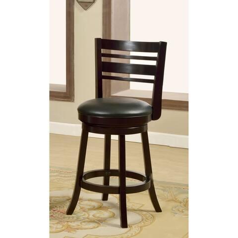 Furniture of America Nern Transitional Espresso Swivel Bar Chair