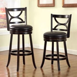 Furniture of America Hollin I Upholstered 30.5-inch Swivel Bar Chair