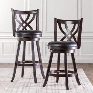 Furniture of America Hollin III Upholstered Swivel Bar Chair