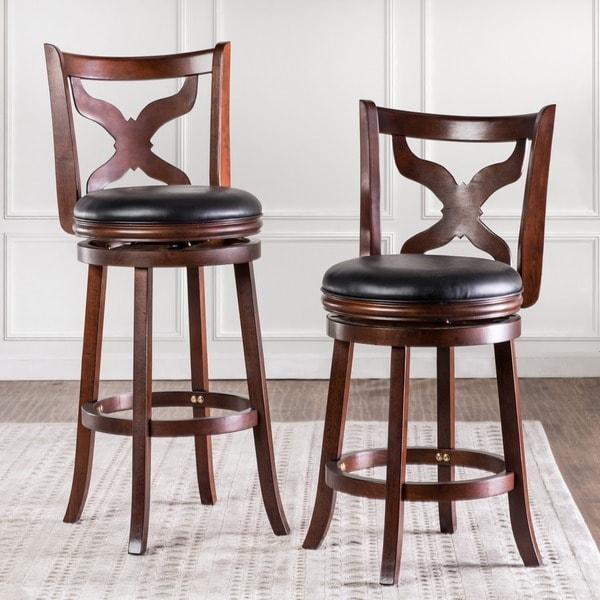 Furniture of america hollin v upholstered swivel bar chair for Vs furniture america