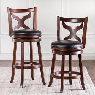 Furniture of America Hollin V Upholstered Swivel Bar Chair