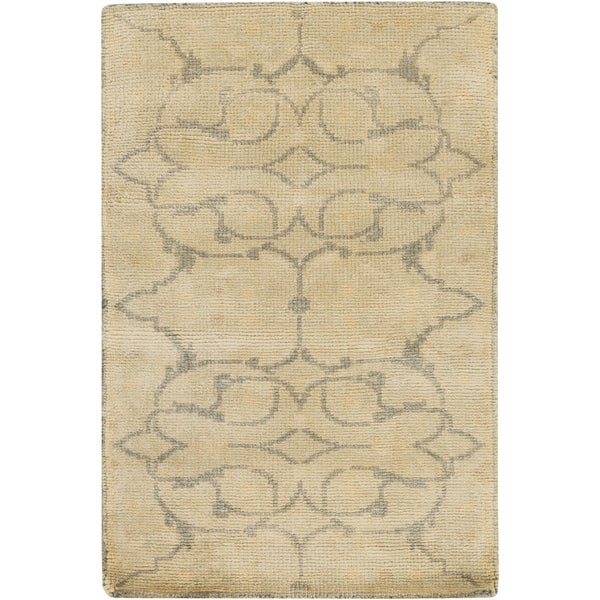 Hand-Knotted Wesley Floral New Zealand Wool Area Rug (3'9 x 5'9) - 3'9 x 5'9