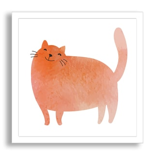 Gallery Direct Guz Anna's 'Watercolor Kitty' Framed Paper Art