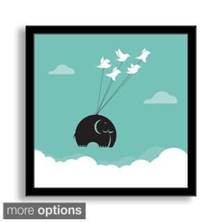 Gallery Direct Yod Seventy-Seven's 'Flying Elephant' Framed Paper Art