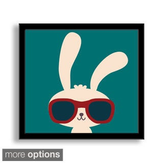 Gallery Direct Yod Seventy-Seven's 'Cool Rabbit' Framed Paper Art