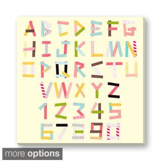 Gallery Direct Faitotoro's 'Colorful Letters and Numbers' Gallery Wrapped Canvas