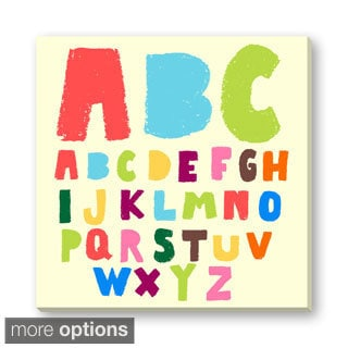 Gallery Direct Faitotoro's 'Kid's Doodle Alphabet' Gallery Wrapped Canvas