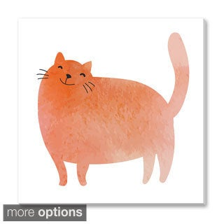 Gallery Direct Guz Anna's 'Watercolor Kitty' Gallery Wrapped Canvas