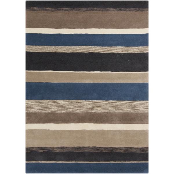 Hand-Tufted Marcel Stripe Wool Area Rug - 8' x 11'