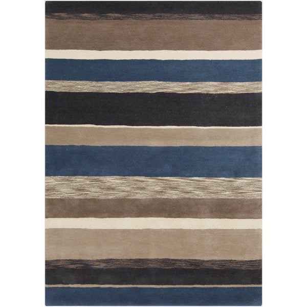 Hand-Tufted Marcel Stripe Wool Rug (8' x 11')