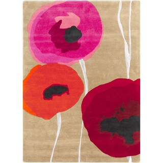 Hand-Tufted Lionel Floral Wool Rug (8' x 11')