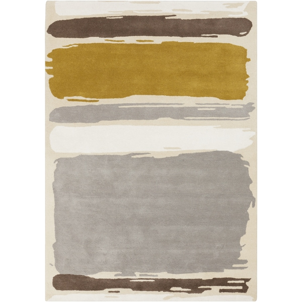 Hand-Tufted Leslie Stripe Wool Rug (8' x 11')
