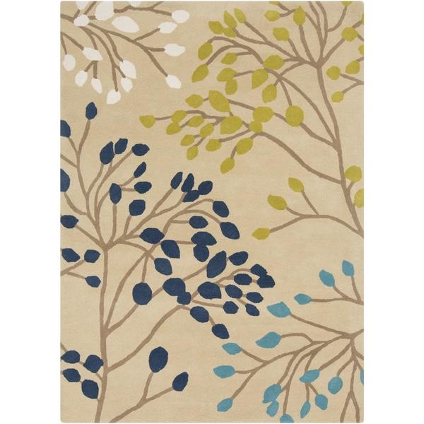 Hand-Tufted Marlee Floral Wool Rug (5' x 8')