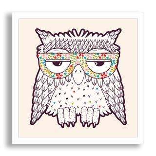 Gallery Direct Tets's 'Owl in Funky Glasses' Framed Paper Art