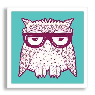 Gallery Direct Tets's 'Owl in Purple Glasses' Framed Paper Art