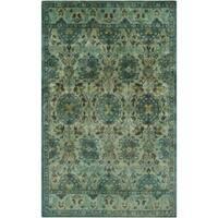 Hand-Tufted Lomond Paisley Wool Area Rug (5' x 8')