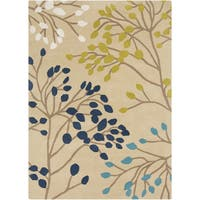 Hand-Tufted Marlee Floral Wool Area Rug