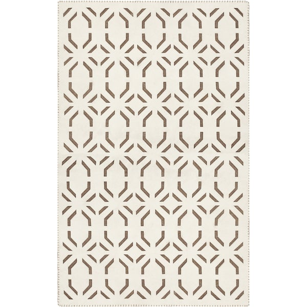 Handmade Goldie Contemporary Felted Wool Area Rug (2' x 3') - 2' x 3'