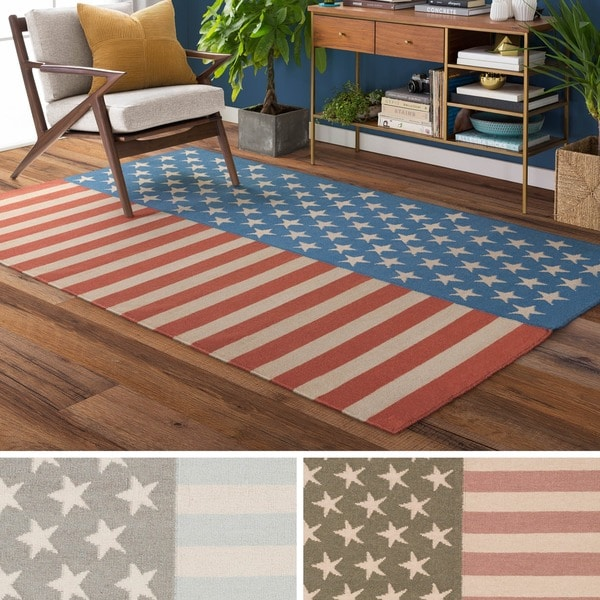 Hand Woven Evelyn Contemporary Wool Area Rug