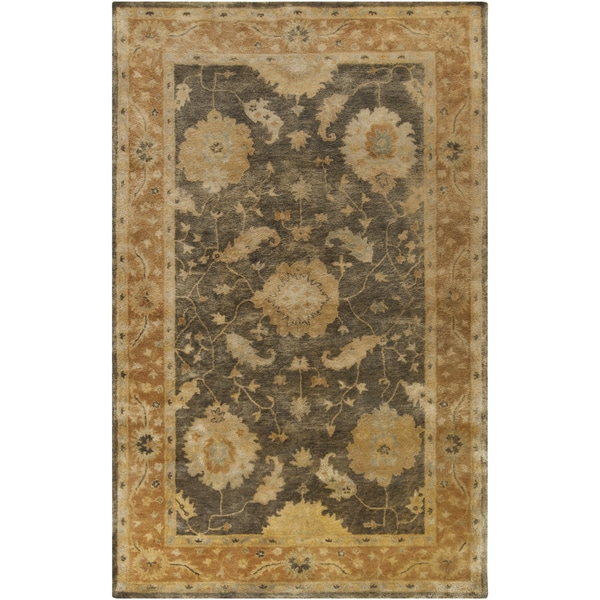 Hand-Tufted Ettrick Traditional New Zealand Wool Rug (8' x 11')