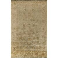 Hand-Tufted Farrah Traditional New Zealand Wool Area Rug - 5' x 8'