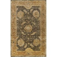 Hand-Tufted Ettrick Traditional New Zealand Wool Area Rug - 5' x 8'