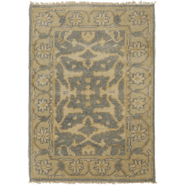 Shop Hand Knotted Tyrone Floral New Zealand Wool Area Rug 2 X 3