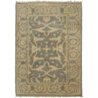 Hand-Knotted Tyrone Floral New Zealand Wool Area Rug - 8' x 11'