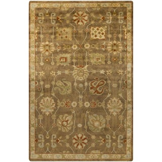 Hand-Knotted Caitlin Floral New Zealand Wool Rug (5'6 x 8'6)