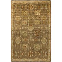 Hand-Knotted Caitlin Floral New Zealand Wool Area Rug - 5'6 x 8'6'