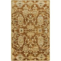 Hand-Knotted Wilbur Floral New Zealand Wool Area Rug - 5'6 x 8'6'
