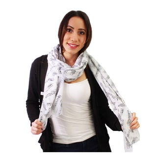Le Nom Women's Simply Music Note Design Scarf