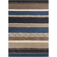 Hand-Tufted Marcel Stripe Wool Area Rug