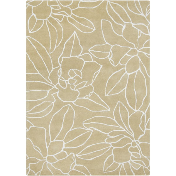 Hand-Tufted Maliah Floral Wool Area Rug - 5' x 8'