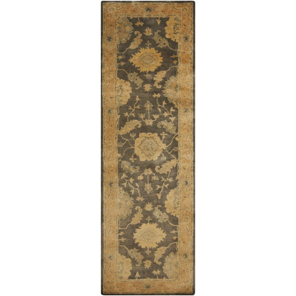"""Hand-Tufted Ettrick Traditional New Zealand Wool Area Rug - 2'6"""" x 8' Runner"""